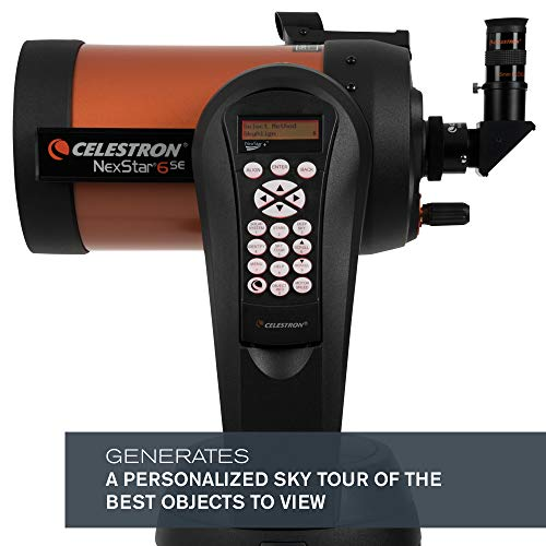 Celestron - NexStar 6SE Telescope - Computerized Telescope for Beginners and Advanced Users - Fully-Automated GoTo Mount - SkyAlign Technology - 40,000+ Celestial Objects - 6-Inch Primary Mirror