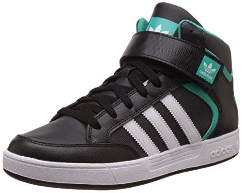 adidas Herren Varial Mid Skaterschuhe, Black (Negbas / Ftwbla / Menimp), 45 1/3 EU