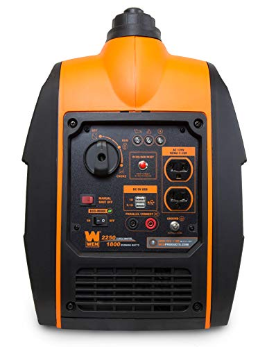 WEN 56225i 2250-Watt Gas Powered Portable Inverter Generator with Fuel Shut-Off, CARB Compliant