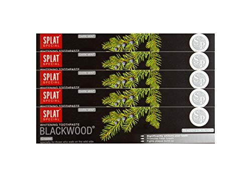 5x SPLAT BLACKWOOD fluoridfreie Kohle Zahnpasta blutstillend und entzündungshemmend