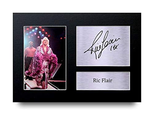 HWC Trading RIC Flair A4 Ungerahmt Signiert Gedruckt Autogramme Bild Druck-Fotoanzeige Geschenk Für WWE WWF Wrestling-Fans