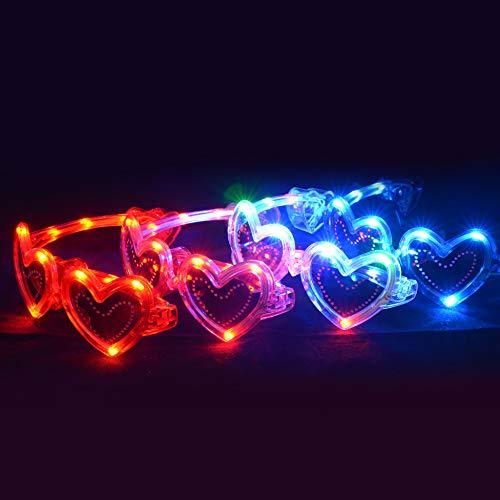 Rire Et Confetti - Fiebas028 - Décoration De Fête - Lunettes Cœur LED