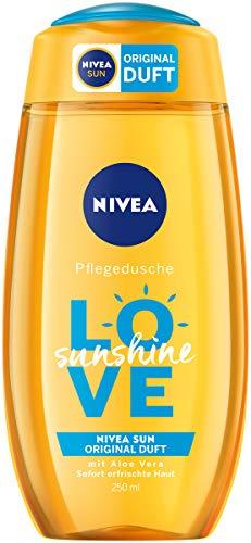NIVEA Welcome Sunshine Pflegedusche mit Aloe Vera im 6er Pack (6 x 250 ml), mildes Duschgel mit dem einzigartigen NIVEA Sun Sonnencreme Duft, sommerlich frische Dusche pflegt die Haut
