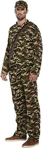 fancy dress army man soldier camoflauge...