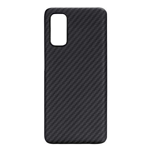 「PITAKA」MagEZ Case Samsung Galaxy S20 対応 ケース アラミド繊維 カーボン風 超薄(0.85mm) 超軽量(14g) 耐衝撃 ワイヤレス充電対応(黒/グレ-ツイル柄)