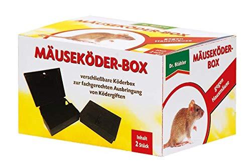 Dr. Stähler 001922 Ratten- und Mäuseköderbox (für Nagetiergift), Kindersicher abschließbar, schützt auch Haustiere (2 Stück)