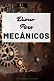 Diario Para Mecánicos: Diario Para Escribir Con Lineas. Diseño Remaches Oxidados Con Cuero. Diario Personal Para Escribir Entre Pistones, Culatas, ... Blanda (6x9 in) (15.24x22.86 cm) 120 páginas.