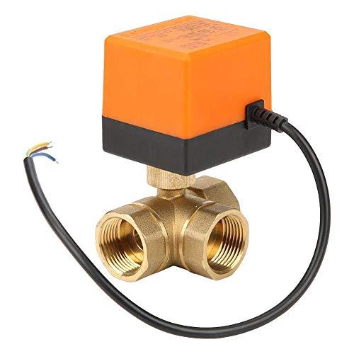 ViewSys DN25 G1 latón de 3 vías Bola Válvula motorizada eléctrica for el acondicionador de Aire de DC24V Control de Flujo,