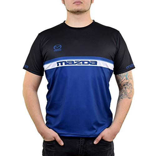 Mazda Razcing Sport Dryfit Graphic T Shirt for Men - Mens Fitted Tshirts with Moisture Wicking Fabric - Mazda Racing Apparel (XXXL)