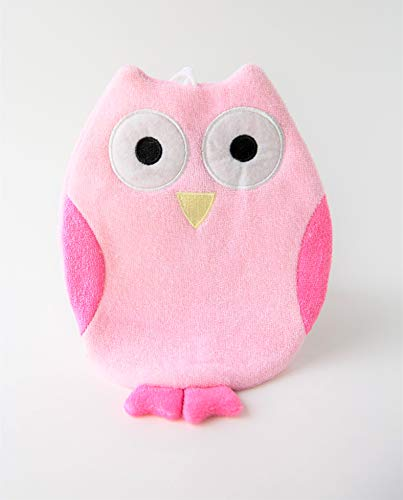 Olivia The Owl Wash Cloth - Animal Shape Cotton Mitt - Zoo Glove - Puppet - Wash Cloth - Children Bath Brush - Bath Glove - Bath Towel Gloves - Cute Glove - Popular Play Wash Cloth