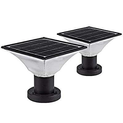 Solar Post Cap Lights Outdoor,Dusk to Dawn Auto On/Off Solar Powered Post Lights Fits Most Posts (1 Pack)