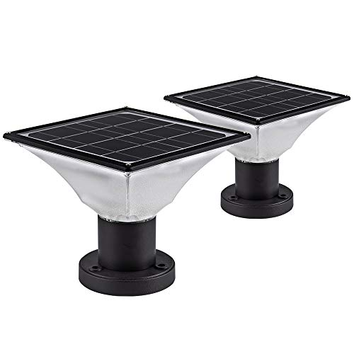 Solar Post Cap Lights Outdoor,Dusk to Dawn Auto On/Off Solar Powered...