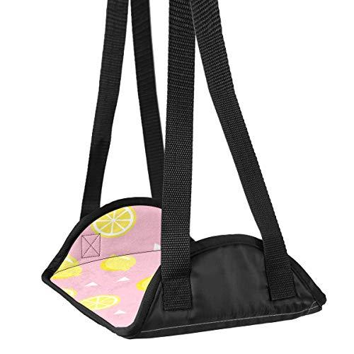 Preisvergleich Produktbild Flugzeug-Fuß-Hängematte Schreibtisch Fuß-Hängematte Reise Fußstütze Home Zubehör Beinstütze Lemon Slice Muster Travel Fußstütze
