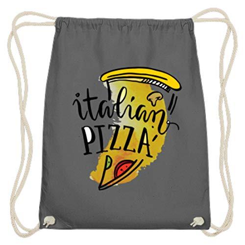 Hoogwaardige katoenen gymzak - Italiaanse pizza - Italiaans pizza food Lover motief - eenvoudig en grappig design