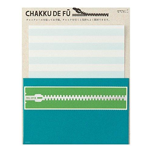 ミドリ  レターセット CHAKKU DE FU アオ 86401006