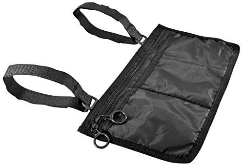 Secure WWP-1B Storage Bag for Wheelchair Walker Rollator, Black - Mobility Aid Storage Pouch Accessory for Elderly, Seniors, Handicap - Hands Free Arm Rest Tote Caddy