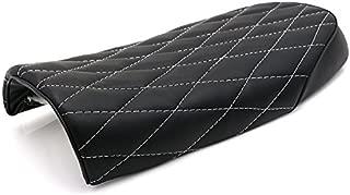 Motorcycle Vintage Diamond Flat Brat Cafe Racer Seat For Kawasaki KZ550A Z750 H1 BMW R100 R100RS R50 R60 Yamaha XT225 250 Suzuki GS250T GS500E GT185 Honda CB500 750 CL100 350 (Black)
