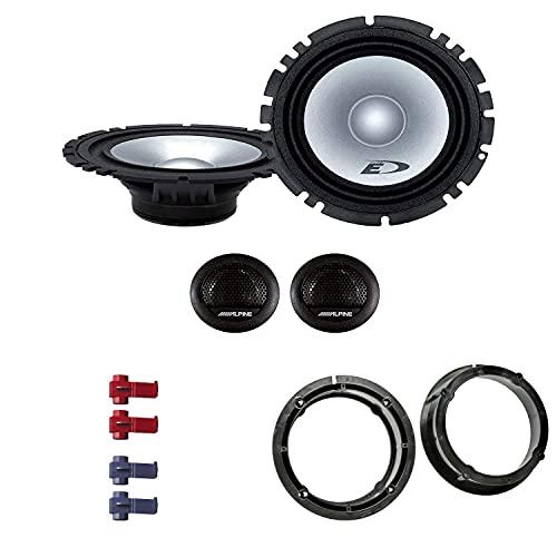 Alpine SXE 1750S Auto Lautsprecher Boxen mit Einbauset passend für VW...