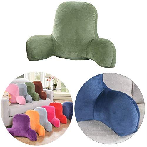 Huiben Lesekissen, super Komfort, Kristall-Samt, gefüllt, einfarbig, Kissen mit stabilen Armlehnen, tolle Rückenlehne zum Lesen, Arbeiten oder Spielen
