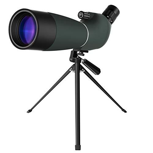 GothicBride Telescopio Terrestre 25-75x70 Impermeable Prisma BAK4 Lente óptica Recubierta MC Zoom Spotting Scope con Trípode y Adaptador de Smartphone