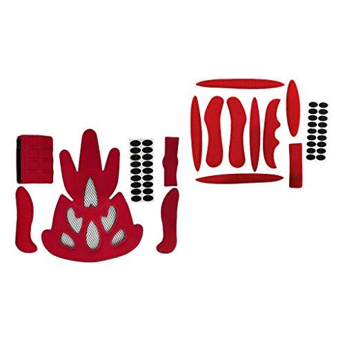 F Fityle 2 Juegos de Almohadillas de Espuma Juego de Almohadillas Interiores de Casco de Repuesto