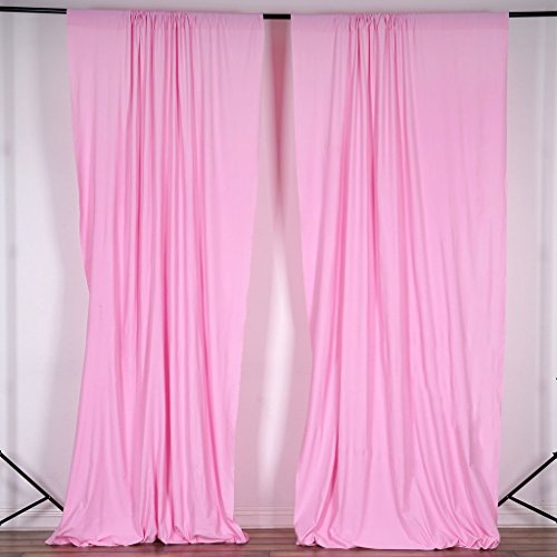 BalsaCircle 10 ft x 10 ft Pink Polyester Photography Backdrop Drapes Curtains Panels - Wedding Decorations Home Party Reception Supplies