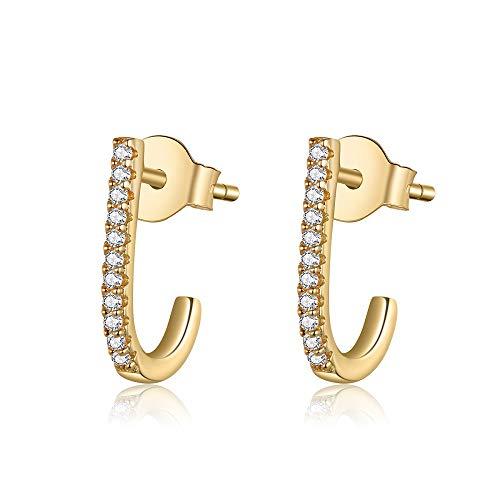 (60% OFF Deal) Hoop Stud Earrings Sterling Silver Plated $6.80