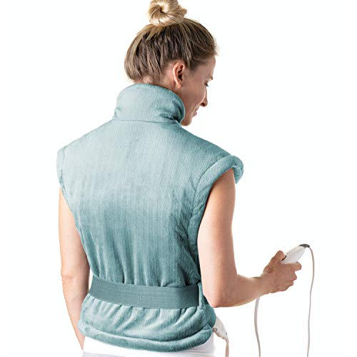 Pure Enrichment® PureRelief™ XL Heating Pad for Back & Neck - Heat Therapy for Muscle Pain in Neck, Back & Shoulders - Ideal for Cramps and Sore Muscles - Fast-Heating Technology with Auto Shut-Off