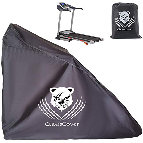 ClawsCover Unfolding Treadmill Cover Waterproof Dustproof Running Machine Cover Exercise Workout Equipment Protective with Windproof Drawstring and Air Vents for Home Gym Indoor Outdoor