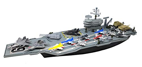 Toy Essentials 27 Inch Aircraft Carrier with Fighter Jets Vehicles and...