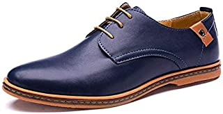 LUKEEXIN Luxury Men Leather Shoes Plus Size Dress Shoes Business Black Flats Lace-up Oxfords Comfortable Footwear Sapato Social Masculino