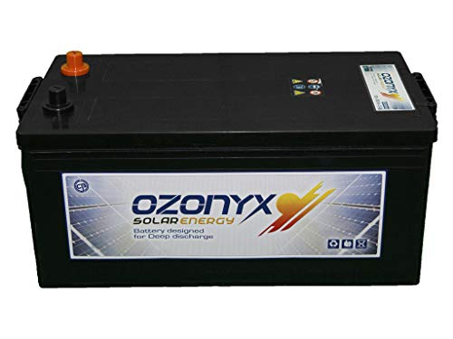 Ozonyx MP000281 Batería solar sellada, libre de mantenimiento, 250 AH