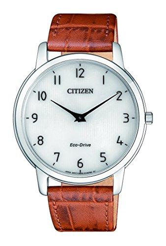 CITIZEN Herren Analog Quarz Uhr mit Leder-Kalbsleder Armband AR1130-13A