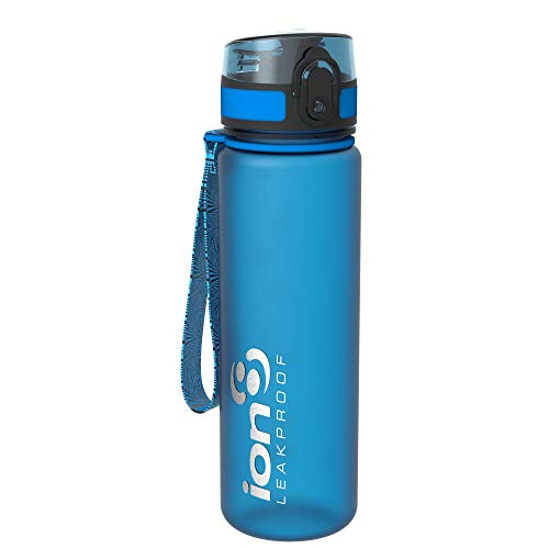 Ion8 - Bottiglia per l'acqua, a prova di perdite, senza BPA., Unisex, Leak Proof BPA Free,Frosted Blue, 500 ml
