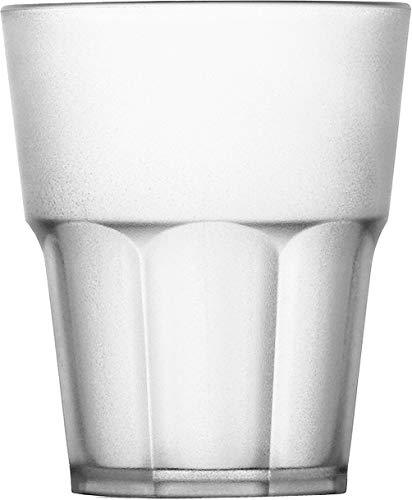 Garnet – Juego de 6 vasos de plástico reutilizables «Rox Satinado» – Apto para lavavajillas – 29 Bordo/25 cl de servicio – Fabricado en Italia