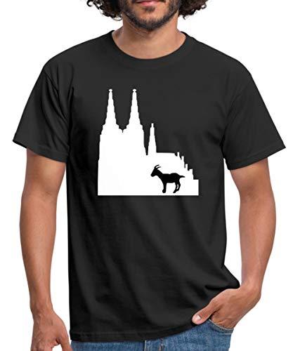 Köln Männer T-Shirt, XXL, Schwarz