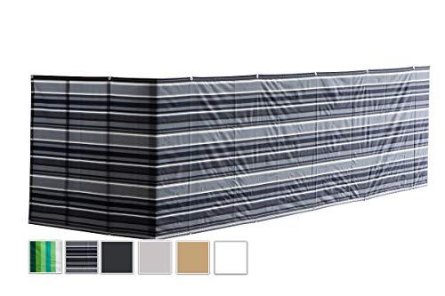 MODKOY Lona Ocultacion Balcon 150x3000cm, Malla terraza, Instalación Simple y Segura, Tela...