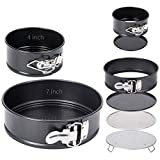 Multi-Function Springform pan set (4 inch, 7 inch) With Flour...