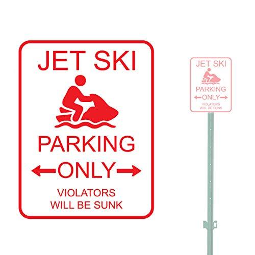 9x12 Jet Ski Parkeerplaats Alleen Overtreders Zware Duty Aluminium Waarschuwing Parkeerbord