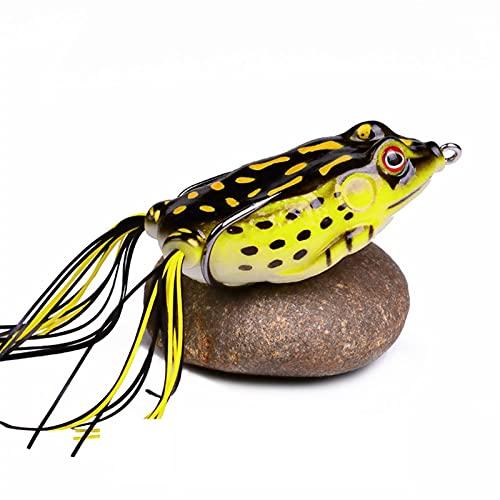 L-MEIQUN, 1 stück lebensechte weiche Mini Spring Frosch mit köder 13g-17.5g silikonköder weiche köder Jigging künstliche fischköder (Farbe : Schwarz, Größe : 17.5g 65mm)