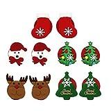 TENDYCOCO 5 paia stecche natalizie sexy design natalizio copricapezzoli stecca seno per donna donna donna