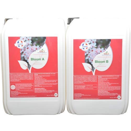 Bio Technology | Quality Flowering Fertilizer | Universal Flowering Fertilizer | Great yield and improves aromas | Made in France | BLOOM A + B - 25 L