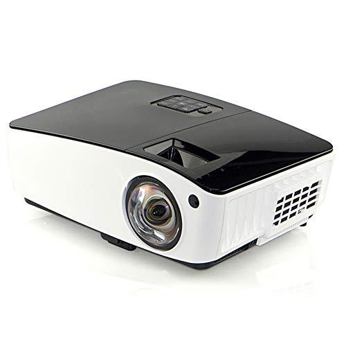 QinLL draagbare projector met 4000 lux LED-helderheid, 1080p ondersteunde, draagbare thuisvideo projector, ultra focale projectie, met VGA, HDMI-aansluiting, bb