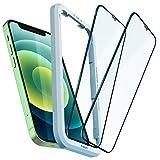 Spigen AlignMaster Vetro Temperato Compatibile con iPhone 12 Mini, 2 Pezzi, Copertura Totale, Resistente ai Graffi, Durezza 9H Pellicola prottetiva