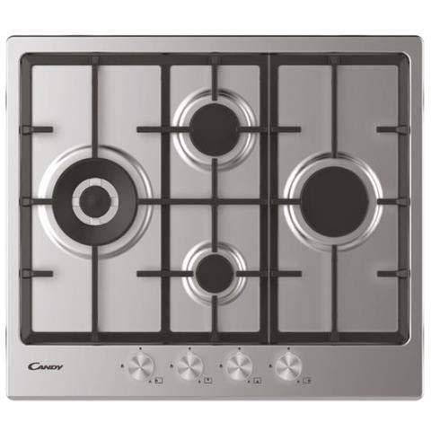CHG 6 D4WPX Plaque de cuisson à gaz 60 cm 4 feux avec 1 brûleur double couronne Inox