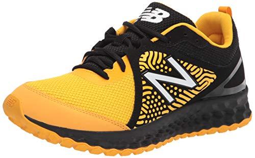 New Balance Men's Fresh Foam 3000 V5 Turf Baseball Shoe, Black/Yellow, 9