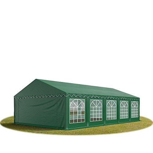 TOOLPORT 5x10 m Tente de réception/Barnum Vert foncé Toile de Haute qualité env. 500g/m² PVC