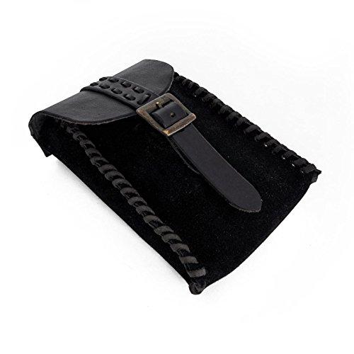 Epic Armoury- Merchant Suede Bag-Black Bolsa, Color negro (Iron Fortress 101679)
