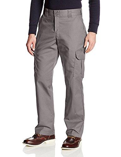 Dickies Men's Regular Straight Stretch Twill Cargo Pant, Gravel Gray, 38X32