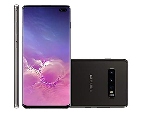 Samsung Galaxy S10+ Plus 128GB+8GB RAM SM-G975F/DS Dual Sim 6.4' LTE Factory Unlocked Smartphone International Model, No Warranty (Prism Black)